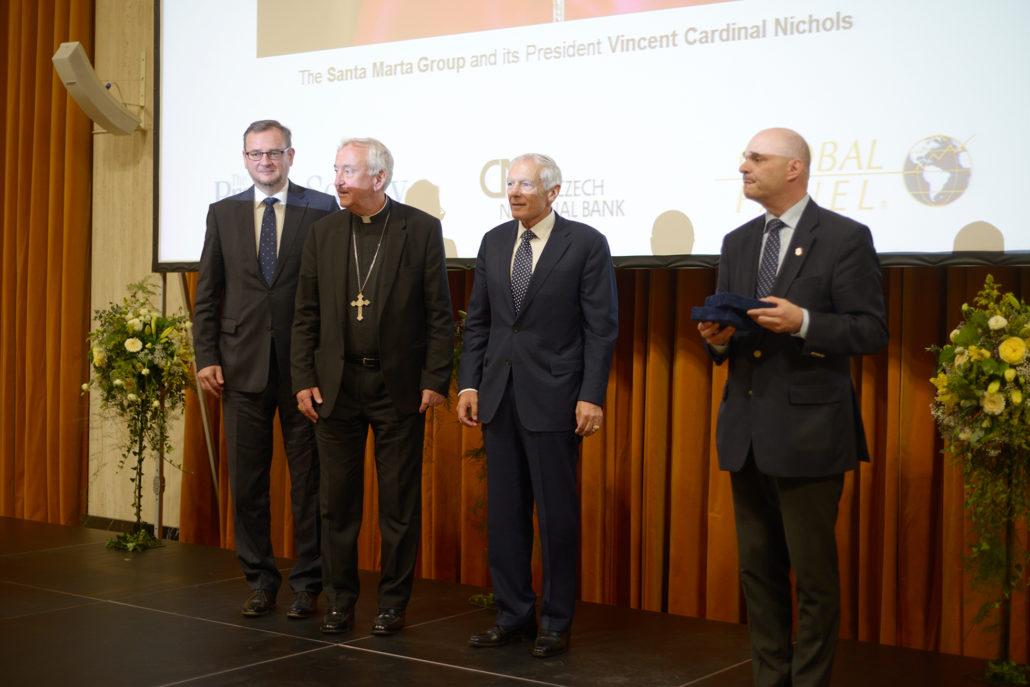 Petr Nečas, Cardinal Nichols, Gen. Wesley Clark, Marc Ellenbogen